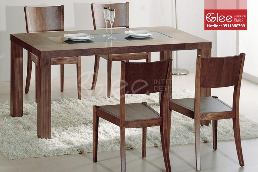 bàn ghế ăn gỗ óc chó, ban ghe an go oc cho