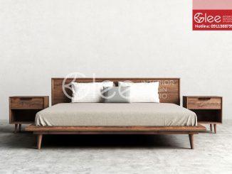 giường gỗ óc chó cao cấp